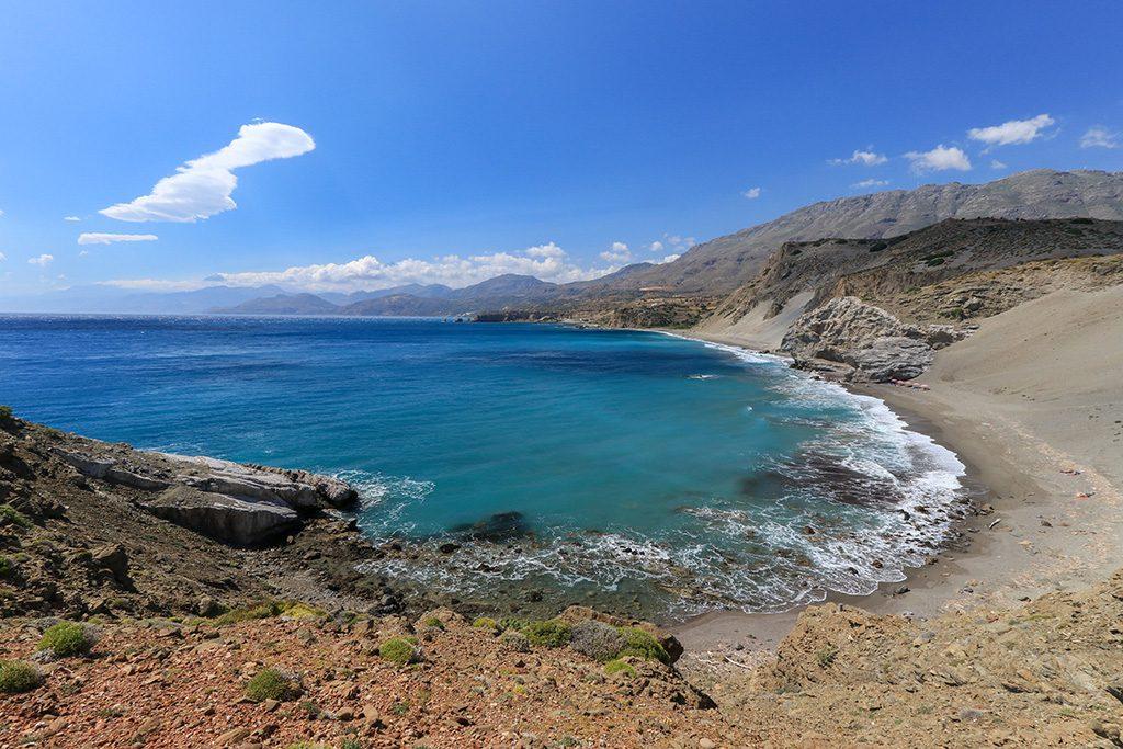 Depuis falaise Agios Pavlos