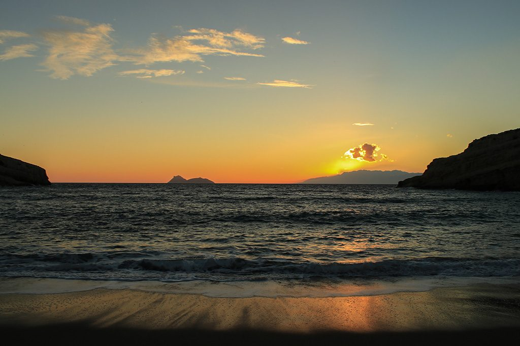 Coucher de soleil Matala