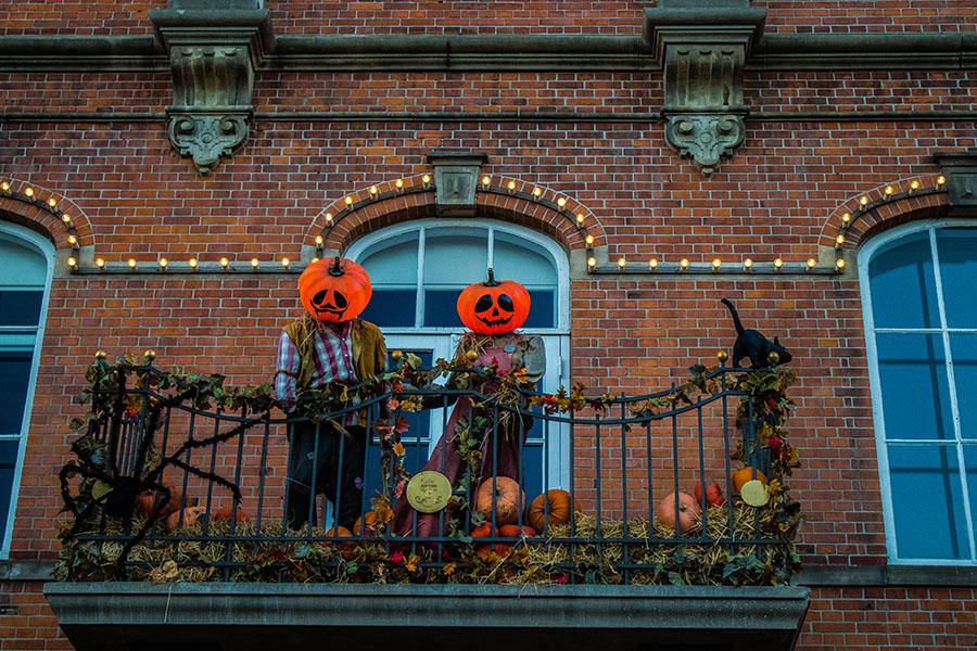 Décoration d'Halloween à Tivoli - Copenhague en Automne