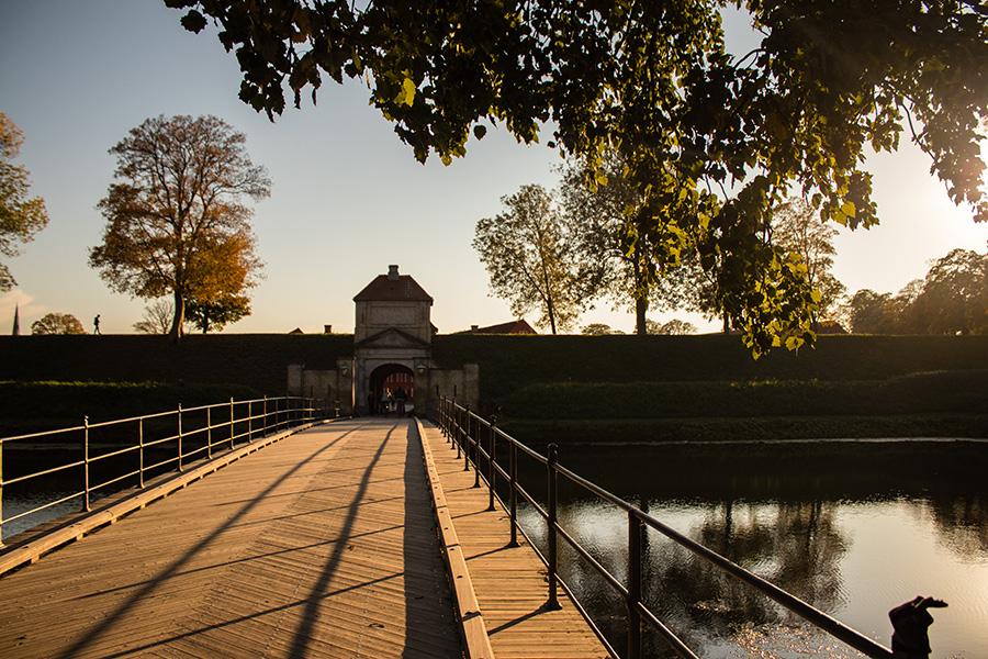Copenhague sous les couleurs de l'automne - Kastellet au coucher du soleil