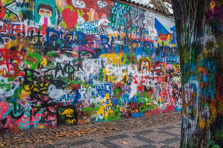 Prague, Nouvel an - Mur Lennon - Lennon Wall - Marie Naudon
