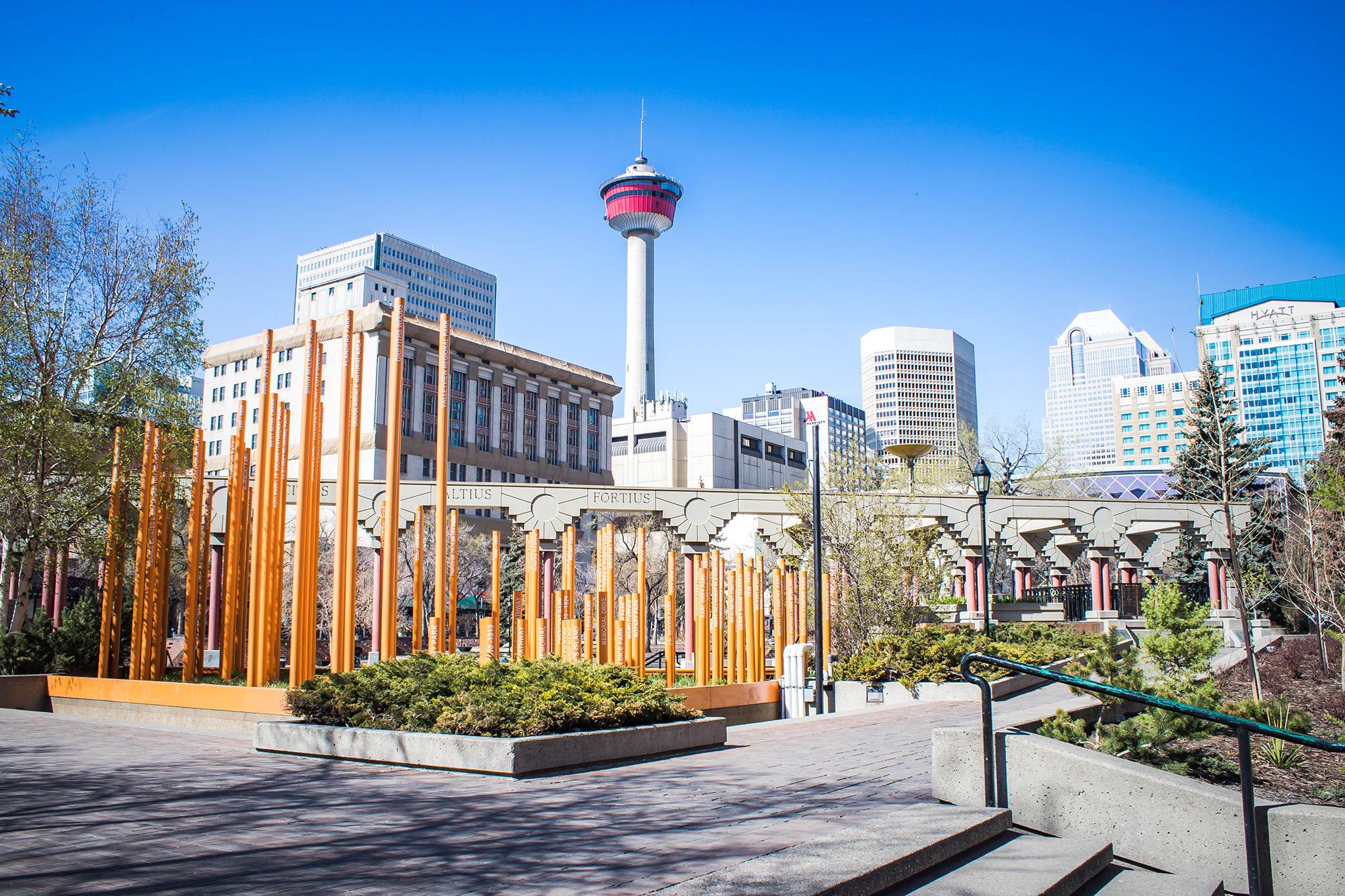 Olympic Plaza, à la découverte de Calgary