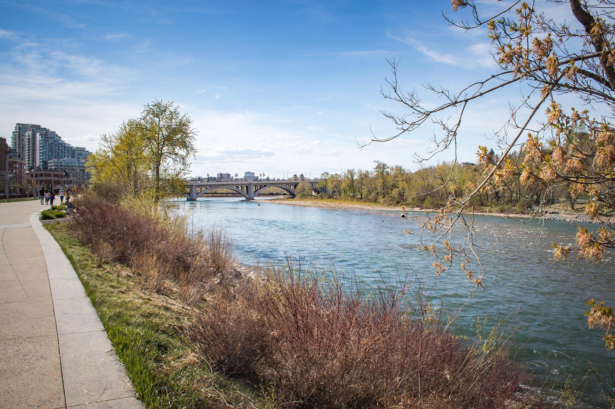 Rivière Bow, Parc à Calgary - Marie Naudon