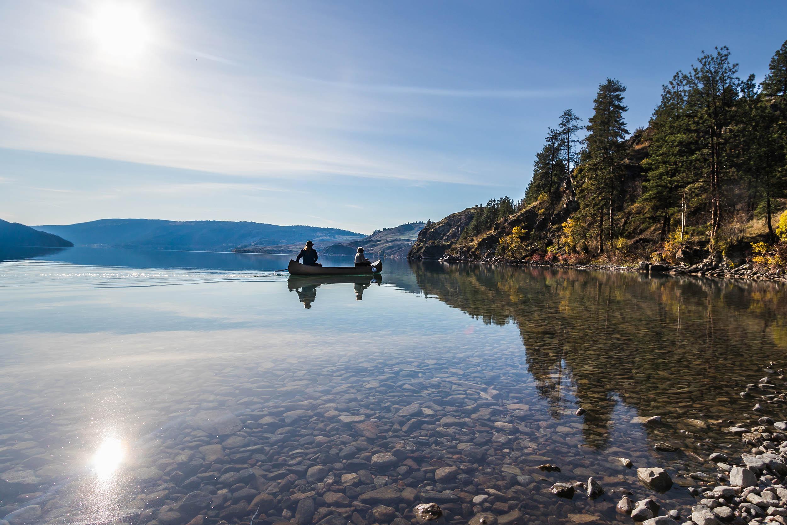lac kalamalka - Automne Colombie-Britannique