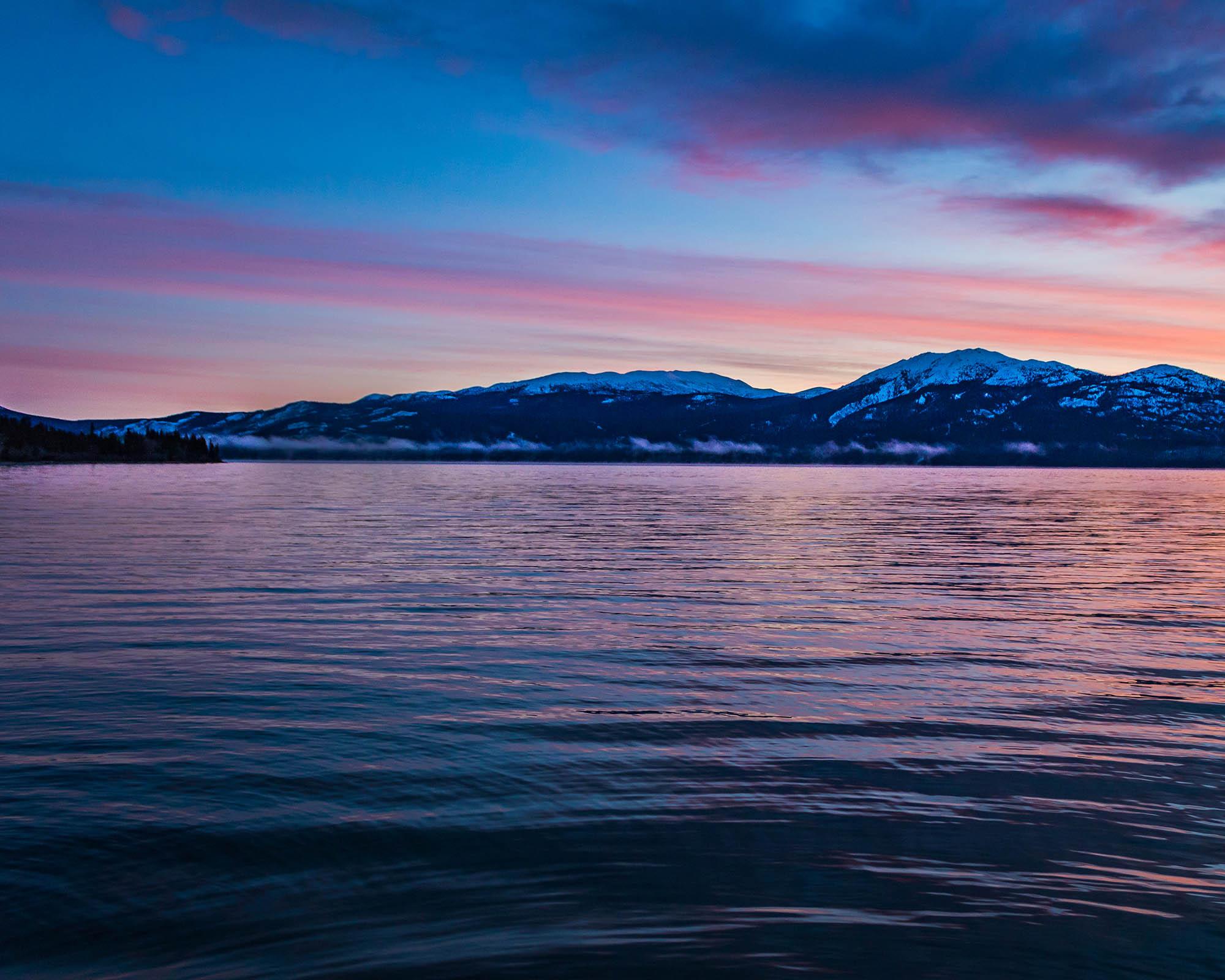 Coucher de soleil - Yukon