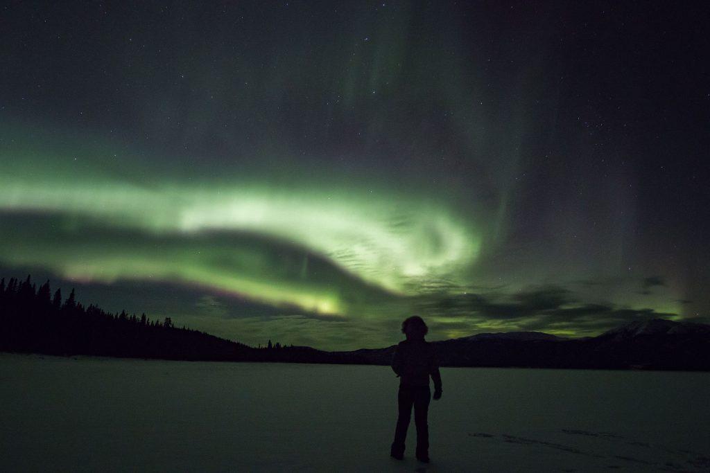 Aurore boréale - Hiver au Yukon - Marie Naudon