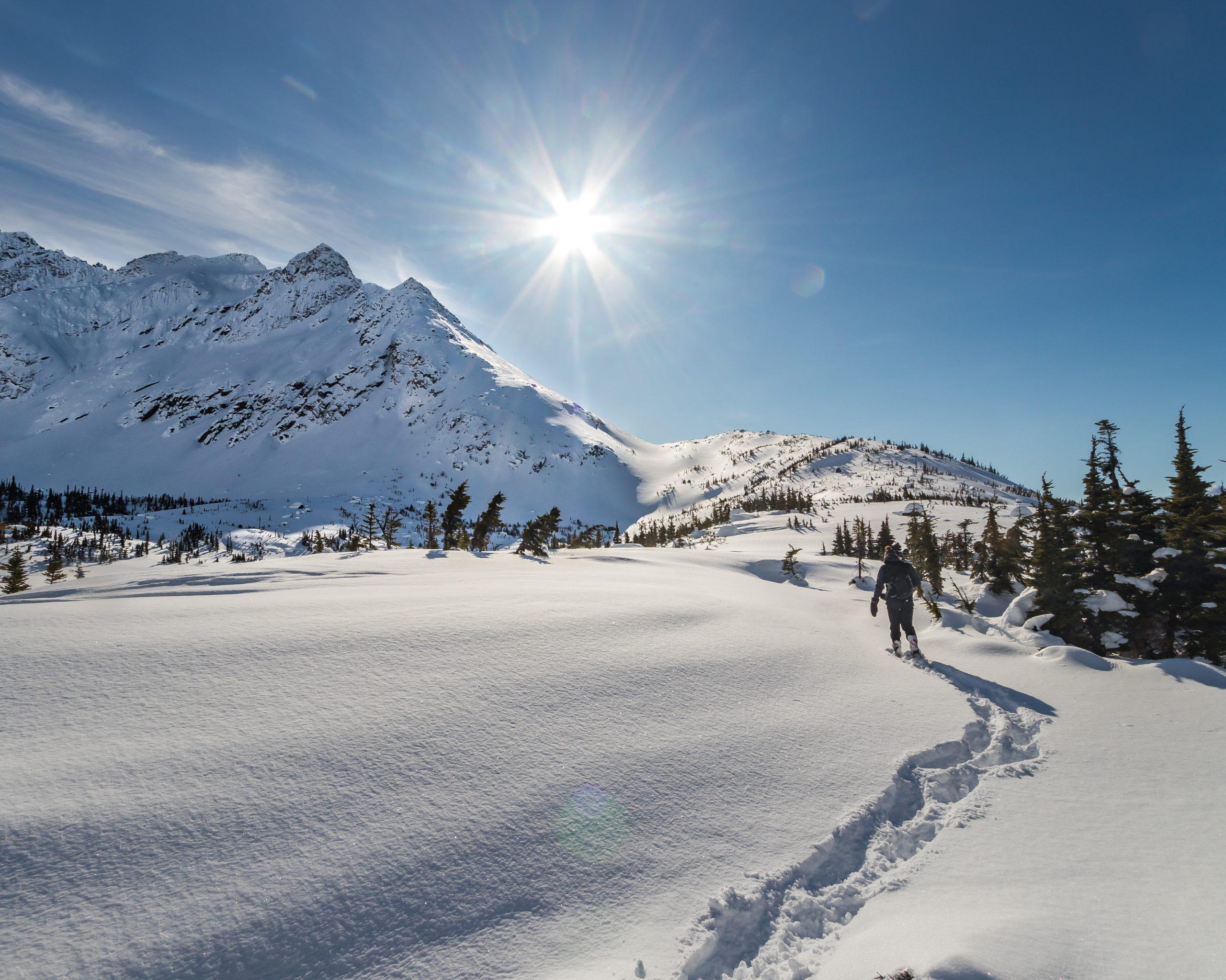 Randonnée en hiver, Skagway en Alaska - Marie Naudon