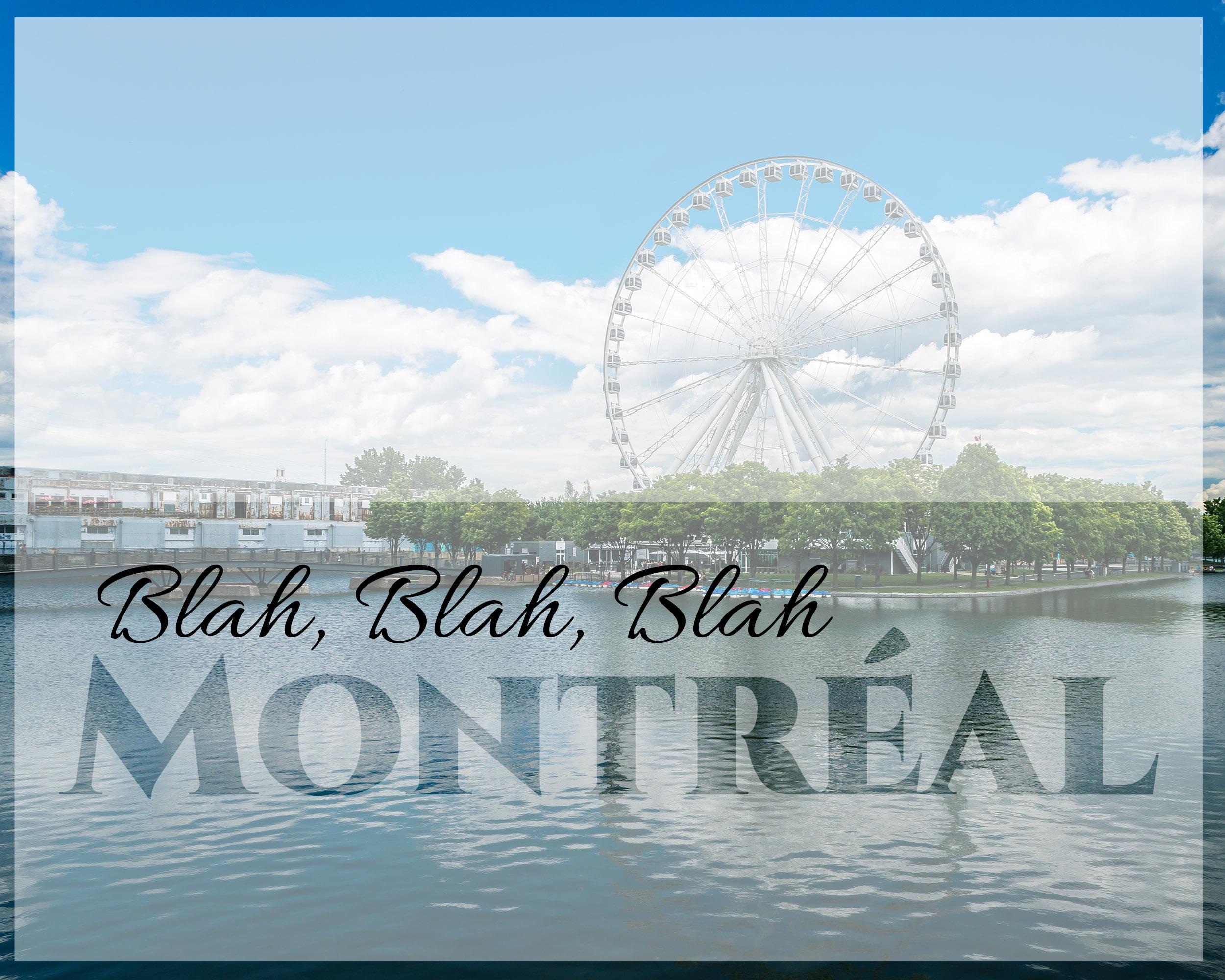 Mon arrivée à Montréal et mon adaptation