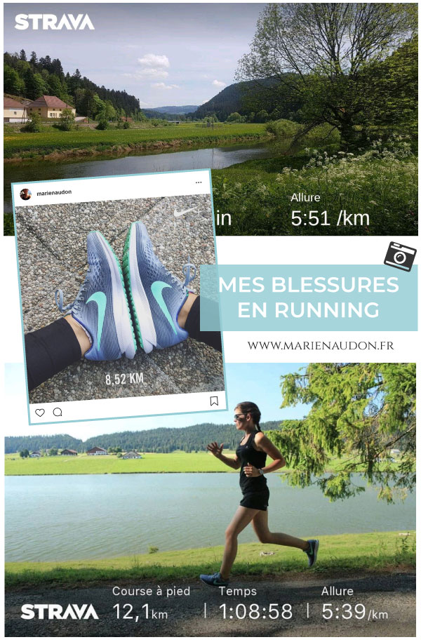 Mes blessures en running/course à pied - Marie Naudon